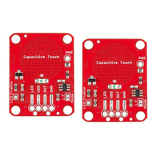 Harilla 2pc Capacitive Touch Sensor Breakout Module For DIY AT42QT1010 Red