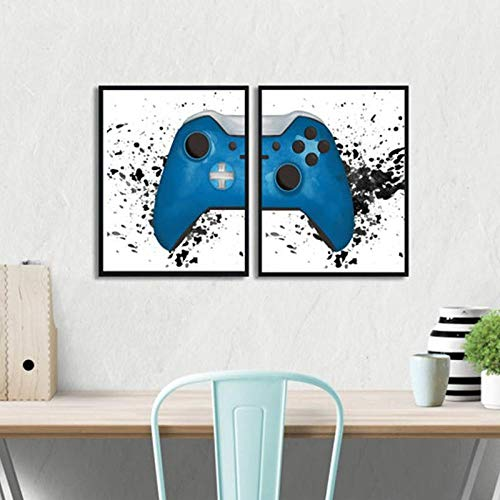 Gaming Boys Wall Art Scandinavian Posters and Prints Video Game Geek Canvas Pintura Gamer Gaming Room Wall Decor Cuadros Gift 40x60cmx2 No Frame