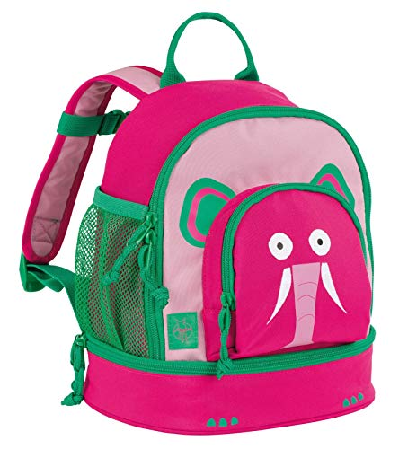 LÄSSIG Kinderrucksack Kindergartentasche mit Brustgurt/Mini Backpack Wildlife Elephant