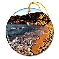 イタリアエルバ島クリスマスオーナメントセラミックシート旅行お土産ギフト