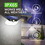 Solar Lights Outdoor 120 LED with Lights Reflector,Solar Motion Sensor Security Lights, IP65 Waterproof Solar Powered Wireless Wall Lights for Garden Patio Yard Deck Garage Fence Pool(2 Pack) IPX65 Rated