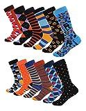 Mio Marino Men's Dress Socks - Colorful Funky Socks for Men - 12 Pack (Modern Ensemble,10 - 13)