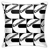 qidong Cummins Logo.jpg Fundas decorativas de almohada para sofá sofá cojín fundas de almohada 45 x 45 cm