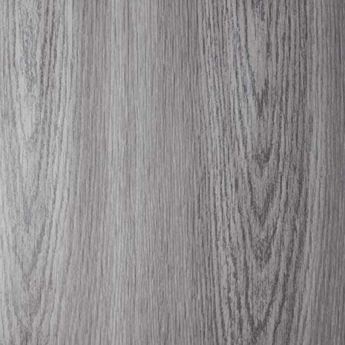 Venilia 53409 - Lámina adhesiva con aspecto de madera de roble pardo, lámina decorativa, lámina autoadhesiva, PVC, sin ftalatos, 45 cm x 1,5 m, color gris