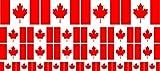 Mini Fahnen - Flaggen Set glatt - 4x 51x31mm+ 12x 33x20mm + 10x 20x12mm- Aufkleber - Kanada - Sticker fürs Büro, Schule und zu Hause - Set of 26