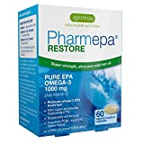 Pharmepa RESTORE - Huile de poisson sauvage oméga-3, 1000 mg d'EPA oméga-3 pur, concentré à 90% pour une puissance et une absorption maximales, 60 capsules