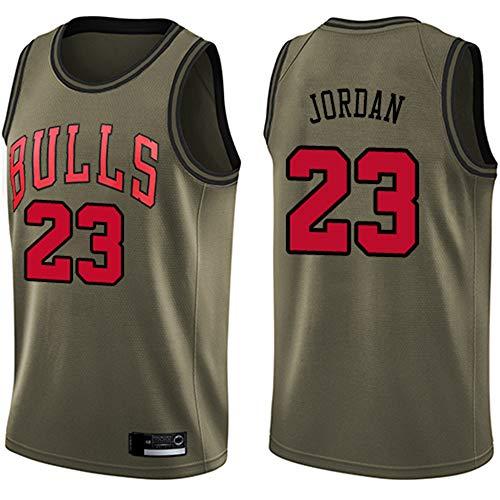 Wo nice Camisetas De Baloncesto para Hombres, Chicago Bulls # 23 Michael Jordan NBA Camiseta Sin Mangas Tops Casual Secado Rápido Deportivo Chaleco De Baloncesto Uniformes,Latón,XXL(185~190CM)