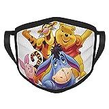 Custom made Winnie The Pooh Adult Black Border Mask, Portable Face Protection,Bandana,Elastic Edge,Balaclava