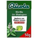 Ricola - Bonbons aux Plantes Suisses - Parfum Menthe des Montagnes - Rafraîchissant - San...