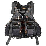 Lixada Fly Fishing Vest Breathable Padded Superior 209lb Bearing Life Safety Jacket Fishing Vest for Swimming Sailing Boating Kayak Floatation Floating Device