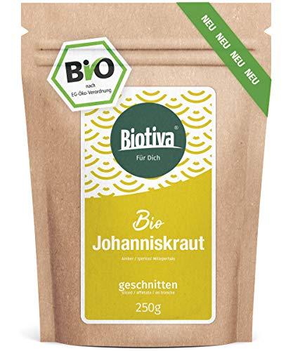 Johanniskraut Tee Bio 250g - Echtes Johanniskraut, geschnitten - Hypericum - abgefüllt und kontrolliert in Deutschland (DE-ÖKO-005)