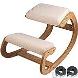 NZKW Taburete de Madera ergonómico mecedor para Las Rodillas, Silla de Postura para arrodillarse, Silla ergonómica para arrodillarse, Mecedora de Madera, sillas mecedoras para arrodilla