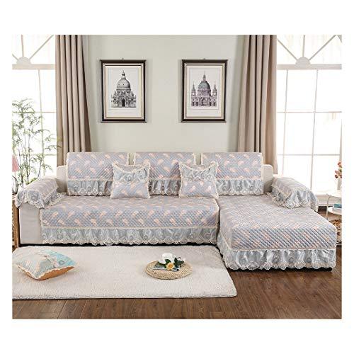 MISSMAO_FASHION2019 Sofa Abdeckung Dekoration Sofa Überwurf Baumwolle Anti-rutsch Schmutzabweisend Kissen Beschützer Für L Förmige-Couch Schnitt Grau 80x180cm