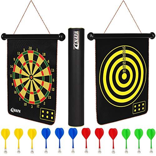 ENAPA Magnetic Dart Board for Kids - Safe Magnetic Darts - Outdoor and Indoor Dart Board Game for...