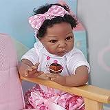 Zero Pam Black Reborn Dolls Boy - Girl 22 inch Reborn Toddler Dolls Biracial African American Baby Dolls Weighted Body Soft Silicone Baby Doll Toy (One Girl)