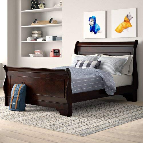 Adcock Solid Wood Low Profile Sleigh Bed (California King)