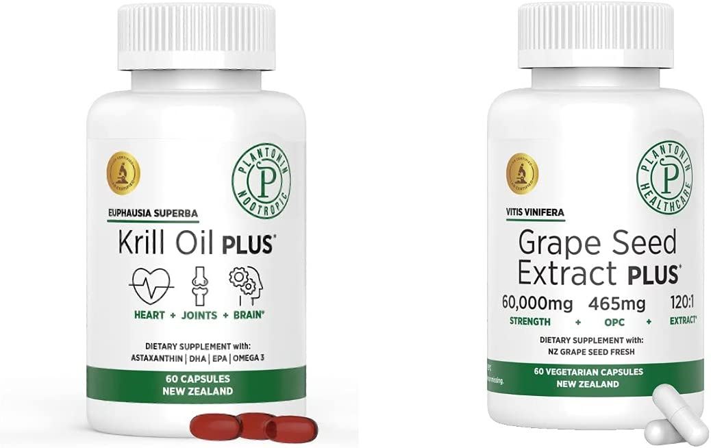 Excellent Plantonin New Zealand Nashville-Davidson Mall Krill Oil Seed Plus Grape Extract and