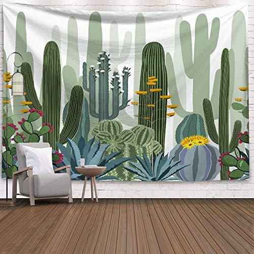 N / A Kaktus Tapisserie Sukkulenten Wanddekoration Tropische Landschaft Wandbehänge Wandteppiche Picknickdecke Wandtuch A5 150x130cm