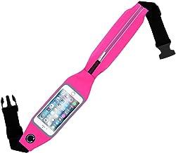 بروميت حزام الجري الرياضي حزام الخصر مع نافذة تعمل باللمس للهواتف الذكية ، بنفسجي LIVEBELT-2.PINK