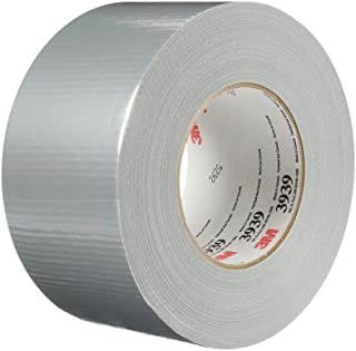 3M 3939 Heavy Duty Duct Tape, Silver, 2.83 in x 60 yd x 9.0 mil – Professional Grade Water-Resistant Duct Tape for Sealin...