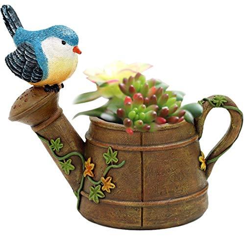 BaiXing Kreative amerikanische Land Retro-Mini-Vogel-Dusche saftigen Blumentopf Persönlichkeit Garten Balkon dekorative Blume (Color : Rust)