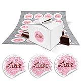 24 kleine weiße Geschenkschachteln Geschenkboxen Verpackung für Geschenke 8 x 6,5 x 5,5 +...
