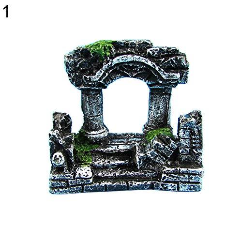 LEUM SHOP - Decoración para acuario, diseño de columna romana artificial, dos columnas