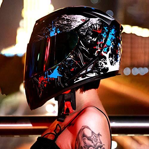 Casco De Bicicleta Eléctrica para Motocicleta Al Aire Libre Todo Terreno, Deportes De Equitación, Capucha Protectora De Ciclismo De Cuatro Estaciones 2XL