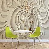FORWALL Skulptur Yoga Frau Wirbel Griechisch Fototapete - Tapete - Fotomural - Mural Wandbild - (3043WM) - XXL - 368cm x 254cm - Papier (KEIN VLIES) - 4 Pieces