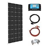XINPUGUANG 100Watt 12Volt Solar Panel Moncrystalline Module Solar Kit 10A Charge Controller, Extension Cable ,Mounting...