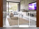 HOOEN Extra Wide Baby Gates 67-71.5 Inch Child Safety Gates for Stairs Doorways Hallway Indoor Pressure Mounted Walk Through Gate for Kids or Pets