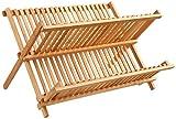 Tienda Eurasia® Escurreplatos de Bambu Plegable - 2 Niveles - Medidas:...