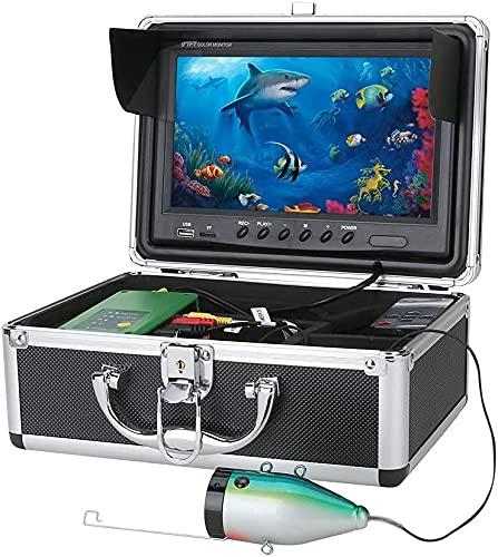 WSVULLD 9 Pulgadas DVR Fish Finder Pesca submarina 1080p Cámara HD 1280 * 720 Screen15pcs LED Blanco + 15pcs Cámara de lámpara infrarroja para la Pesca 16g, 30m (Size : 30M)