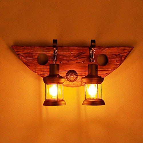 DSJ wandlamp Loft American decoratieve kunst retro nostalgie hout koffie bar restaurant headed nachtkastje wandlamp woonkamer slaapkamer