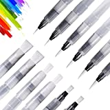 UPINS 12 Piece Water Color Brush Pen Set, Watercolor Paint Pens for Painting Markers
