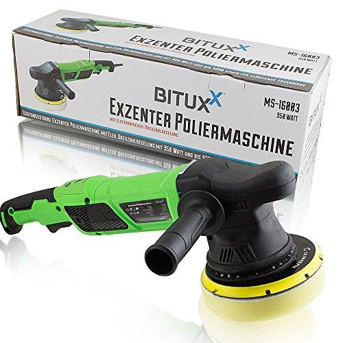 BITUXX® Exzenter Autopoliermaschine Poliermaschine Polierer mit elektronischer Drehzahlregelung 950W