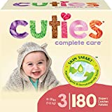 Cuties Complete Care Baby Diapers, Size 3, 180 Count
