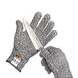 Yizhet 1 Par Guantes Anticorte, Guantes Trabajo Resistentes a Los Cortes Nivel 5 Seguridad Proteccion Guante para Cocina, Trabajo Mecanico y Jardín- (M) (Cut-re gloves-M)