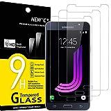 NEW'C 3 Stück, Schutzfolie Panzerglas für Samsung Galaxy J7 2016, Frei von Kratzern, 9H Festigkeit, HD Bildschirmschutzfolie, 0.33mm Ultra-klar, Ultrawiderstandsfähig