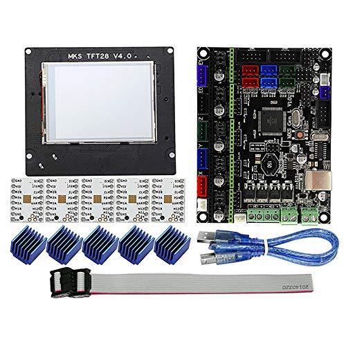 BKAUK MKS GEN L+TMC2208+MKS TFT28 2.8 Inch Kleur Schermpaneel Druk op Display 3D Printing School Kit Controller 3D Printer Entry Unit.