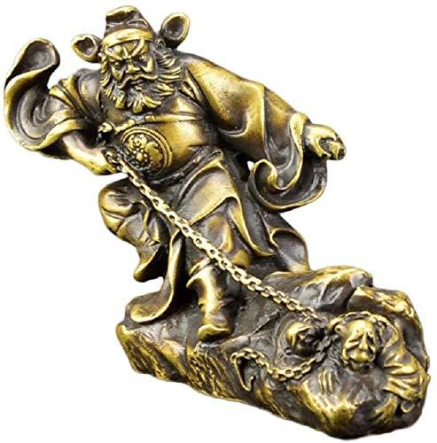 AINIYF Gioco Antico Ottone Statue Giorno Division Bell Kui Feng Shui Decorazione Salone della casa di Office Desktop Decorazione Artigianato di Rame