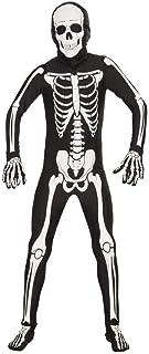Forum Novelties I`m Invisible Costume Stretch Body Suit, Skeleton, Child Medium