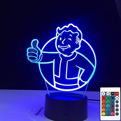 Game Fallout Shelter 3D LED Night Light Table Lamp Bedside Decoration Kids Gift