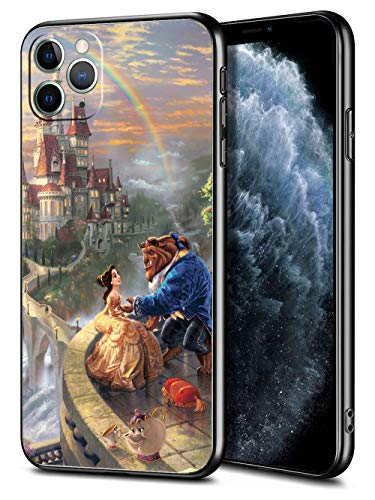 for iPhone 11 Pro Max Case TPU Soft Bumper Hard PC Slim Protective Back Cover 6.5-Inch (Beauty Belle Beast)