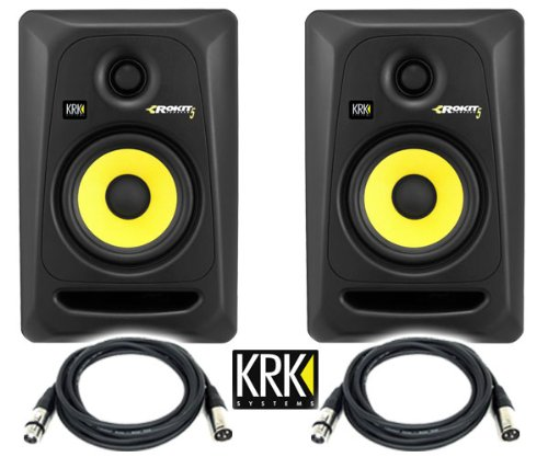 KRK RP5G3-NA Rokit 5 Generation 3 Powered Studio Monitor (Pair) / Free Talent cable XLR to XLR 18ft ea