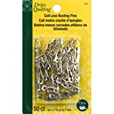 Dritz 3026 Curved Coil-less Safety Pins, Size 1 (50-Count)