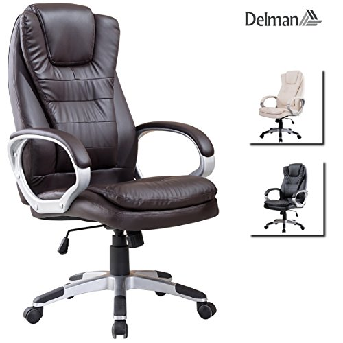 Delman Drehstuhl Bürostuhl Chefsessel Bürodrehstuhl PU Kunstleder ergonomisch 02-1001BN