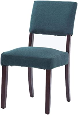 ZLZ- Dining Chair Solid Wood Fabric Hotel Restaurant Chair Hotel Coffee Stool Simple Modern Simple (Color : A)