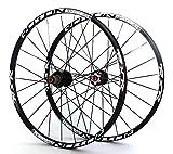 NO BRAND Carbono 26 '' 29' 27.5' 24holes Disco de Freno Ruedas de la Bici de montaña QR de Carbono Bujes MTB Ruedas de Bicicleta Delantera Trasera 2 5 rodamientos sellados (Color : 275er Black hubs)