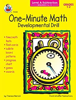 One-Minute Math Subtraction: Minuends 0 to 10, Grades 1-2: Developmental Drill (One-Minute Math Drills)